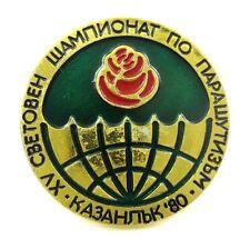1980 World Parachuting Championships in Kazanlak,Bulgaria Lapel Pin Badge
