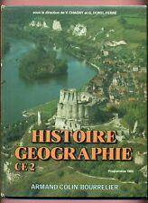 LIVRE - MANUEL SCOLAIRE - HISTOIRE / GEOGRAPHIE CE 2 - DOREL FERRE / COLIN