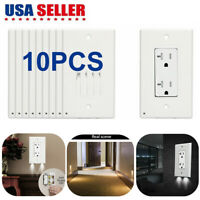 10 X Pro Duplex Night Angel Light Sensor LED Plug Cover Wall Outlet Coverplate