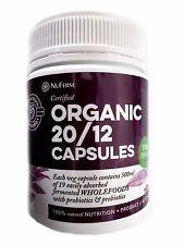 200 capsules NUFERM Cert Organic 20/12 Wholefood Blend Probiotics & Prebiotics