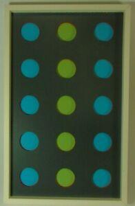Max Gerhard Konkrete Kunst Relief aus 15 seriellen Kreiselementen farbiges Holz