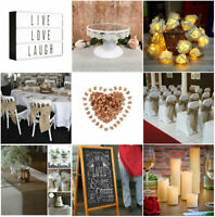 Wedding Decor Burlap Hessian Runner Table Confetti Cake Lights Event Party Rose