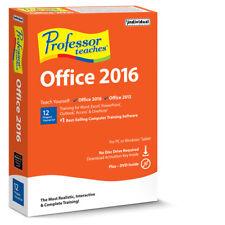 PROFESSOR TEACHES OFFICE 2016--PC Software WINDOWS 10,8,7,XP -------brand new