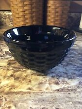 Longaberger Woven Reflections Ebony Black 5� Bowl In Box