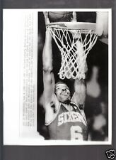 Julius Erving Dr J Last Career Dunk Vintage 8x10 Glossy A/P Photo with caption