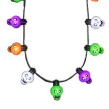 Halloween Zombie Skulls String Lights Necklace