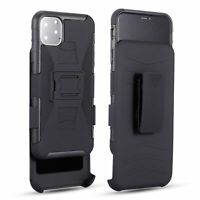 Belt Clip Cover Holster Stand Armor Heavy Duty Rugged For iPhone 11 Pro Max Case