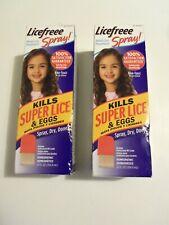 2 Licefreee Spray Head Lice Spray- Super Lice Treatment for Kids 12 Oz free ship