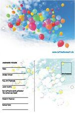 50 Ballonflugkarten Bunte Ballons am Himmel