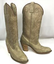 ARIAT Women's Western Cowboy Boots Size 6.5 M Tan Leather