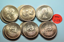 mw6123 South Africa; Lot of 25 Coins from Mint Bag - Penny  1960  BU  KM#46