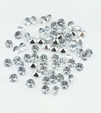 DIY 100pcs 6mm Clear Resin Crystal beads Point back Rhinestones Strass NEW !!!
