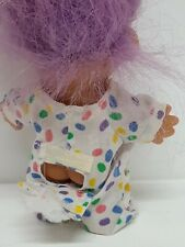 Easter Troll 18386 Russ Vtg 90s Collectible Toy Jelly Bean Egg Bunny Rabbit Luck