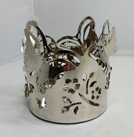 Butterfly Large Metal Jar Yankee Candle Ring Holder Easter Spring Home Decor