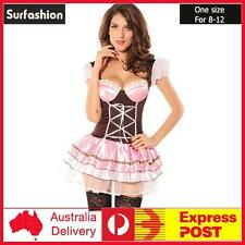 Sexy Pink Oktoberfest Beer Maid Wench Bar Girl Party Costume  One Size Fit #8225