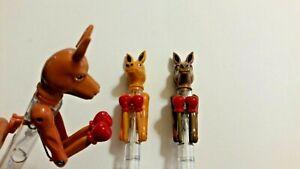 3 Boxing kangaroo pens Great Australia gift idea Paws moves and writing pen.