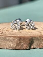 14k White Gold 1cttw Round Diamond Solitaire Stud Earrings $2299