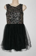Atmosphere Limited Edition BNWT Black Gold Sequin Lace Overlay Mini Dress Sz 10
