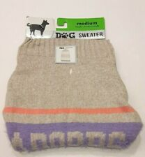 New listing Adorbs Dog Sweater Size Medium 17-22 inches Tan Pink Purple Pet Clothes