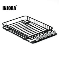 Metal RC Roof Rack Luggage & Light for 1/10 Axial SCX10 & AXI03007 90046 TRX4