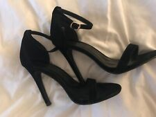 Black velvet high heels size 4, worn once perfect condition