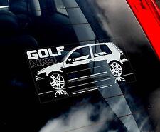 VW Golf MK4 - Car Window Sticker - Volkswagen Mark 4 MKIV MK Performance Dub