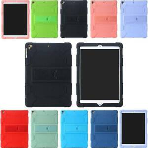For iPad 5th 6th 7th Gen Air Pro Case Kids Safe Shockproof Silicone Soft Cover