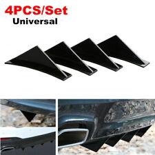 4x Car Triangular Rear Bumper Lip Spoiler Diffuser Shark Deflector for BMW Honda