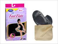 Dr. Scholls FAST FLATS Foldable Ballet Flats & Gold Wristlet Bag NEW ALL SIZES