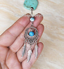 Leaf Navel piercing Body piercing 2ps Handmade Dreamcatcher belly button rings