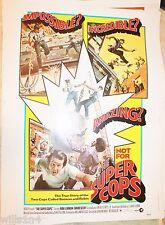 Super Cops 1974 Batman & Robin true story Original Movie Poster