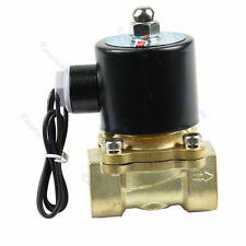 "DC 12V  Brass  1/2"" Electric Solenoid Valve Water Air Fuels Gas Normal Closed"