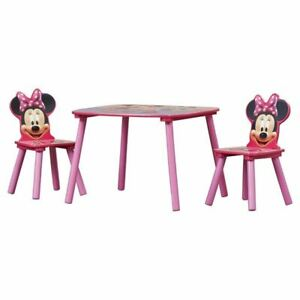 Delta Children Minnie Mouse Kids 3 Piece Table and Chair Set DEL1483
