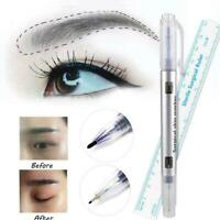 Effective Microblading Tattoo Eyebrow Marker Pen With Measure Measuring-Ruler