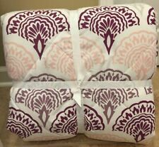 NEW Pottery Barn Teen Feather Scallop FULL QUEEN Essential Bedding Set PURPLE