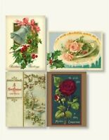Victorian Trading Co 8 Pack Holiday Christmas Greetings Scrapbook Stickers New
