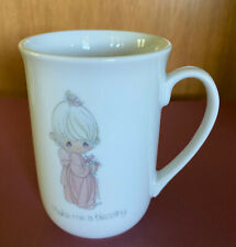 "Vintage 1983 Precious Moments ""Make me a blessing"" Coffee Tea Mug Enesco"
