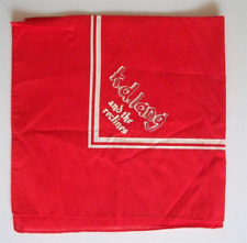 K.D. Lang Bandana Kerchief Scarf Promotional Only Rare Large Country Western