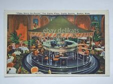 BOSTON Plaza Merry Go-round Copley Square Massachusetts old postcard