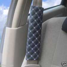 1 par coche piel suave Cinturón De Seguridad Hombre Pastillas Funda AMORTIGUADOR