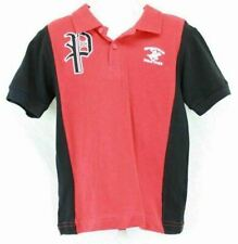 Beverly Hills Polo Club Boys Short Sleeve Polo Shirt Red and Blue Size 4T