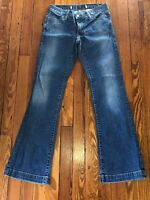 Gap Long And Lean Jeans Size 0 Regular Boot Cut Cuffed