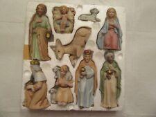 Vintage Homco Home Interiors 9-piece Nativity Set