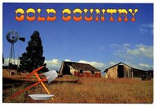 Gold Country Northern California Postcard Sierra Foothills Rush Era Unposted