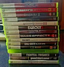 Lot of 15 XBOX 360 video games new and used