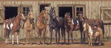 Western Horses at the Stable Wallpaper Border BG1732BD