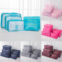 6Pcs Travel Luggage Storage Bags Case Suitcase Clothes Organiser Pouches Packing