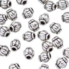 100 pcs Tibetan Silver Spacer Large Hole Beads Barrel Jewelry Finding DIY Making