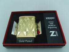 BRIQUET ZIPPO ESSENCE NEUF - DIAMOND DESIGN ( Plaqué Or ) Armor , Tempete , Luxe