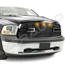 Replacement Big Horn Gloss Black Packaged Grille+Shell for 09-12 Dodge RAM 1500